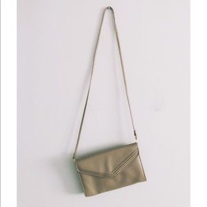 Vintage Taupe Envelope Clutch Purse